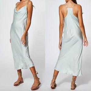 Young Fab & Broke NWT Mint Sweetie Slip Midi Dress